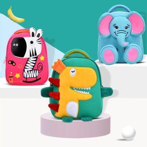 Baby Girls Kids 3D High grade Mochila Cartoon Anti lost Kindergarten School Bag for Baby Boys