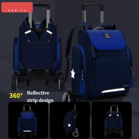 High capacity Student School bag Rolling Backpack kids Trolley bag school backpack wheeled bag Children Trolley 3