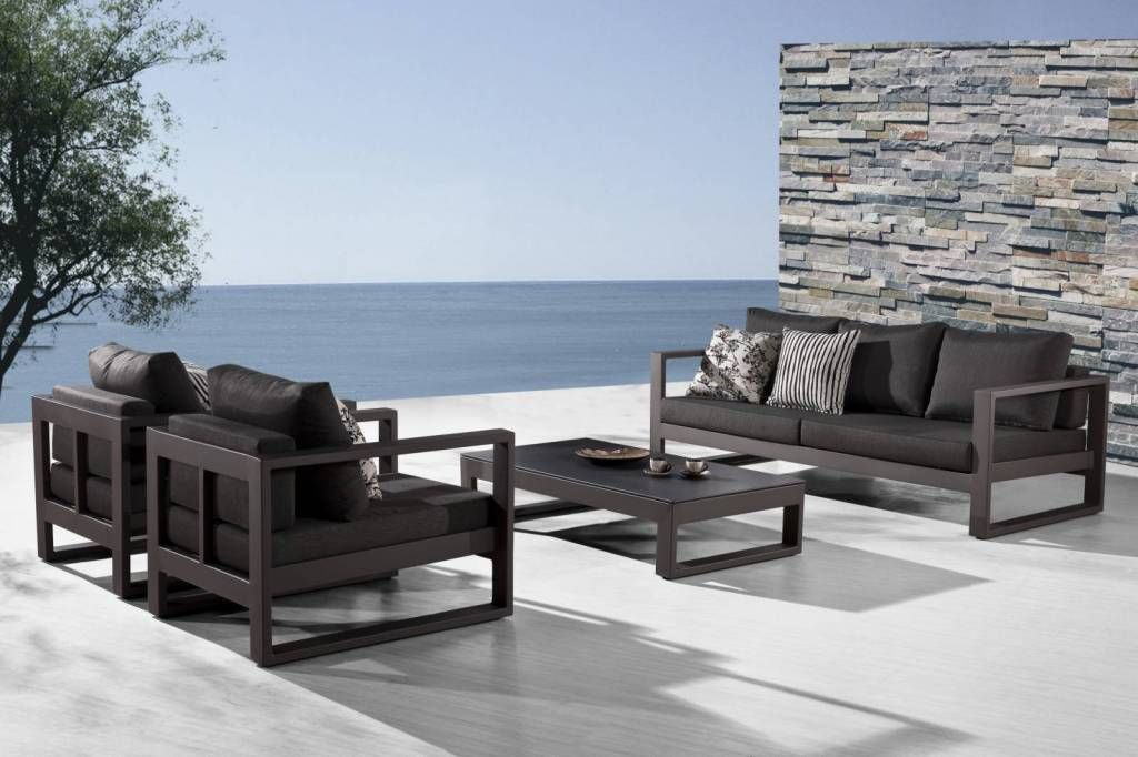 Amber Modern Outdoor Sofa Set for 5 with 2 Club Chairs on Outdoor Loveseat Sets  id=72395