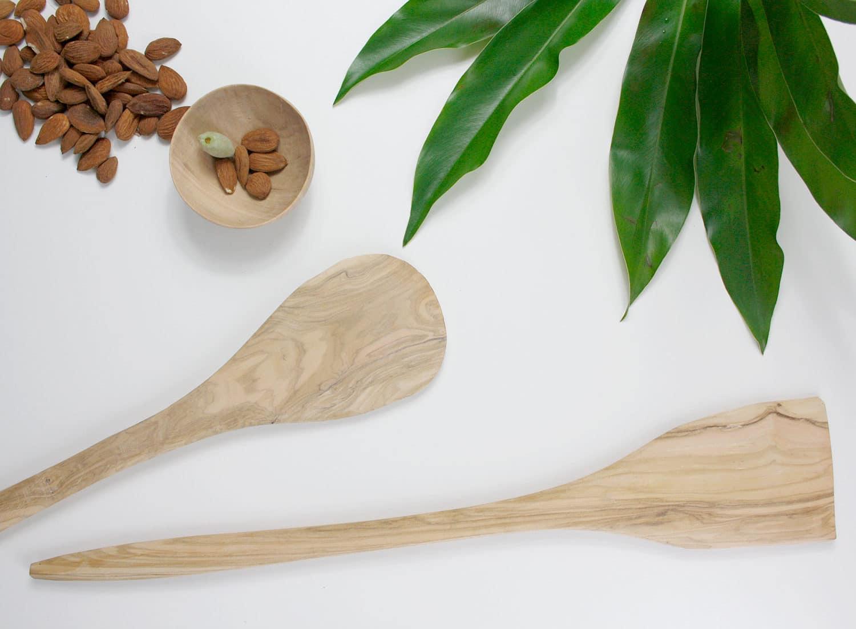 schälchen, Löffel, aus Mandelbaumholz