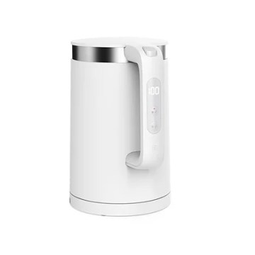 Xiaomi Mi Smart Kettle Pro - smart kettle, capacity 1.5 l, Stainless Steel Liner, LCD screen shows current water temperature, intelligent water temperature control 40-90 °C + 100 °C, quiet operation, app control via Bluetooth. The labels on the kettle are in English.