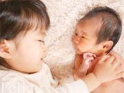 新生児フォトお姉ちゃんと