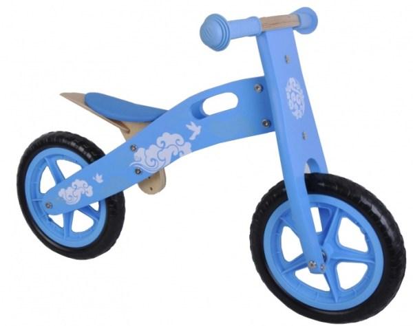 Yipeeh houten loopfiets 12 Inch Meisjes Lichtblauw