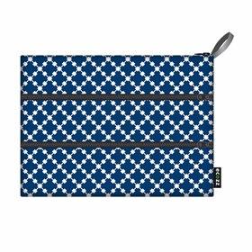 Handig vakjestasje 19x25 van gerecyclede PET - Squares Blue