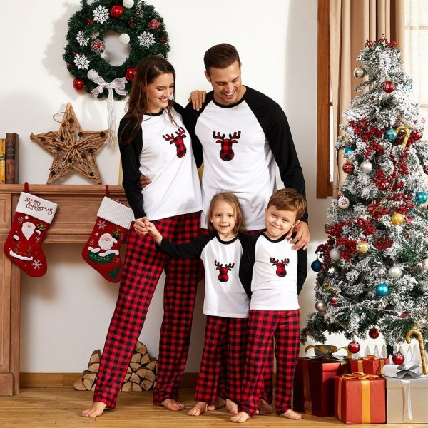 Pajamas Christmas Family 2020 New Winter Pyjamas For Adult Baby Kids Homewear Dad Mom Boys Girls Cartoon Print Matching Clothes