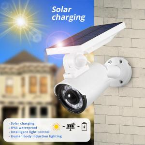 Solar Charging Waterproof IP66 8 LED Outdoor Garden Simulation Dummy Not Real Camera Villa Lawn Induction Street Wall Lamp Wall LED Night Light