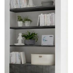 Buffetkast Urbino 190 cm hoog in hoogglans wit met oxid
