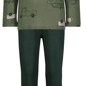 HEMA Kinderpyjama Auto's Groen (groen)