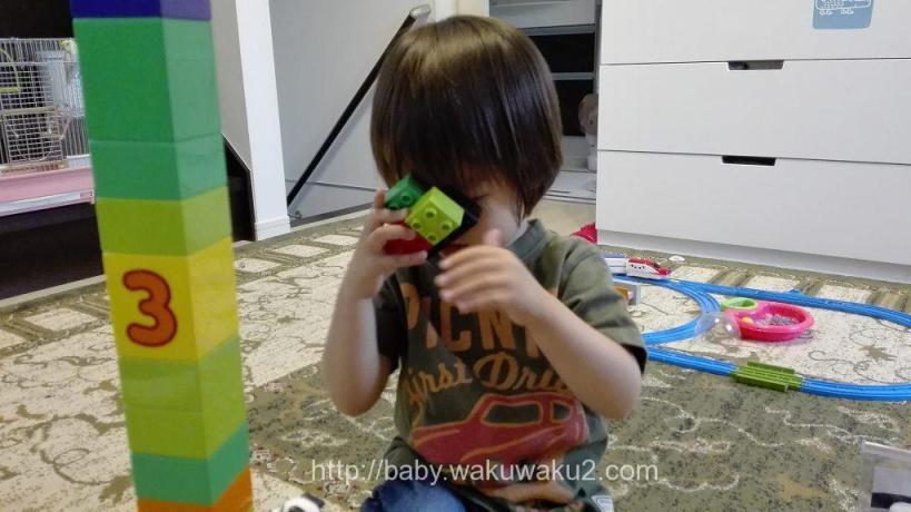 こゆたん 2歳9ヶ月 レゴブロックエ 2歳児