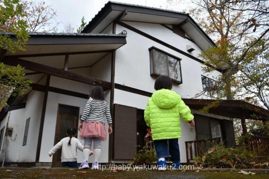 4家族 バーベキュー お泊り コテージ 3歳児 ヴィラージュ那須