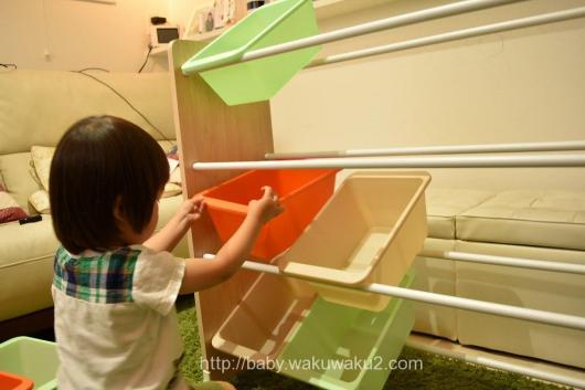 おもちゃ収納 キッズトイハウスラック アイリス 収納家具 子供部屋 組み立て方