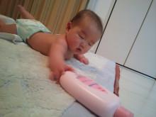 ピンクのボトル ジョンソン