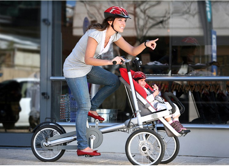 folding-3-wheels-bicycle-16inch-mother-font-b-baby-b-font-font-b-stroller-b-font