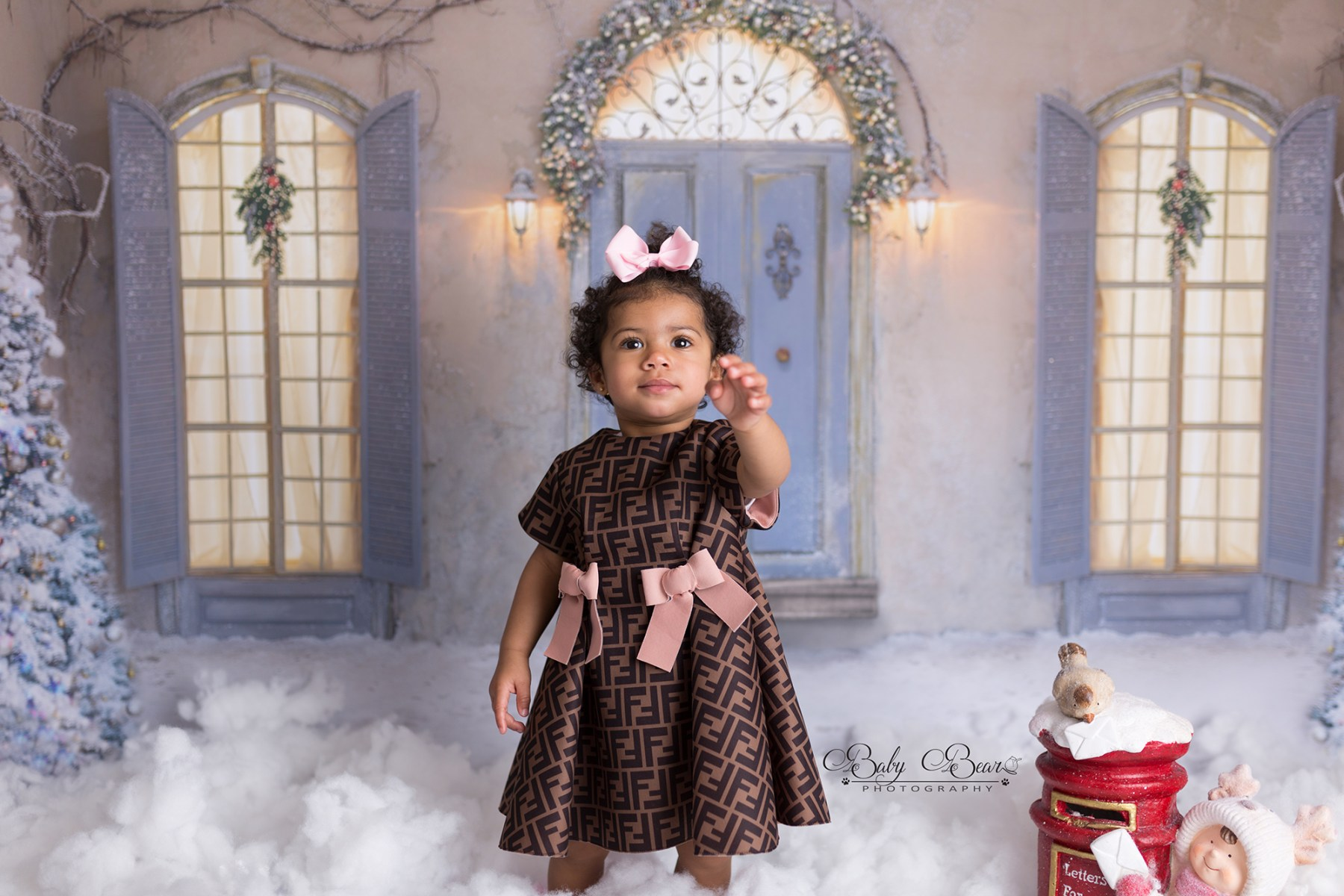 Beautiful girl at her christmas shoot in Coventry