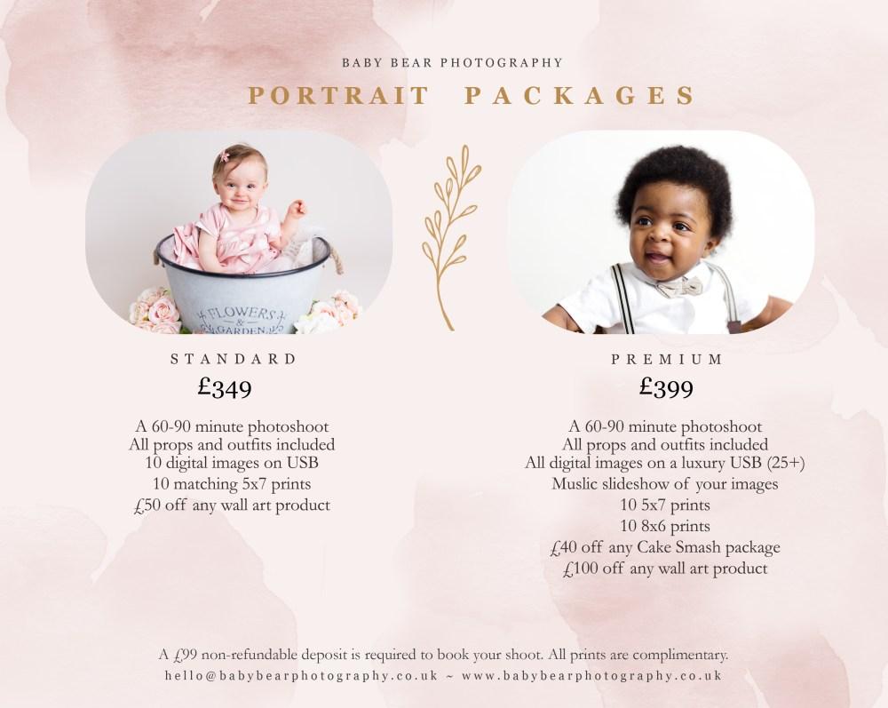 Portrait Price List