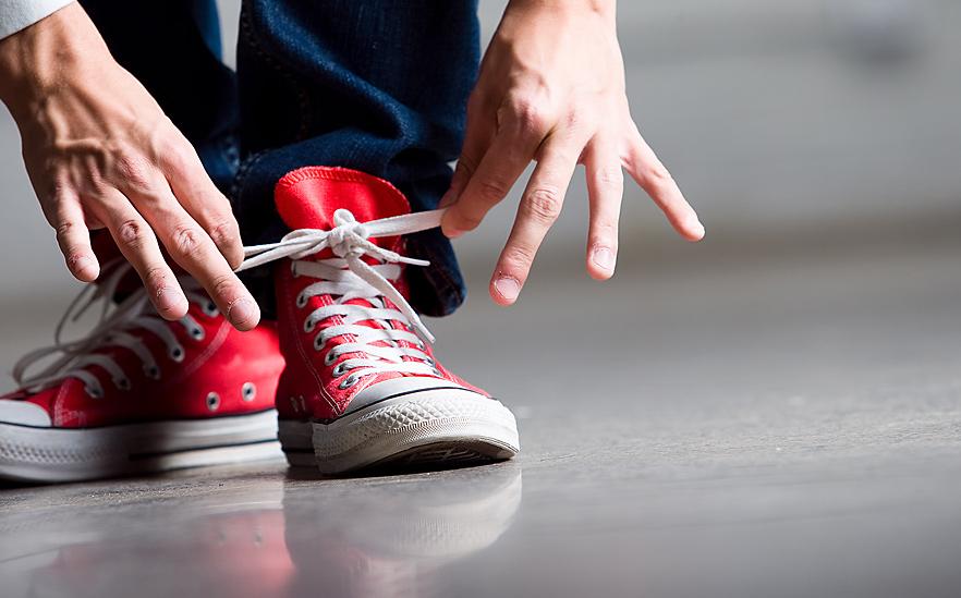 Завязанные шнурки картинки