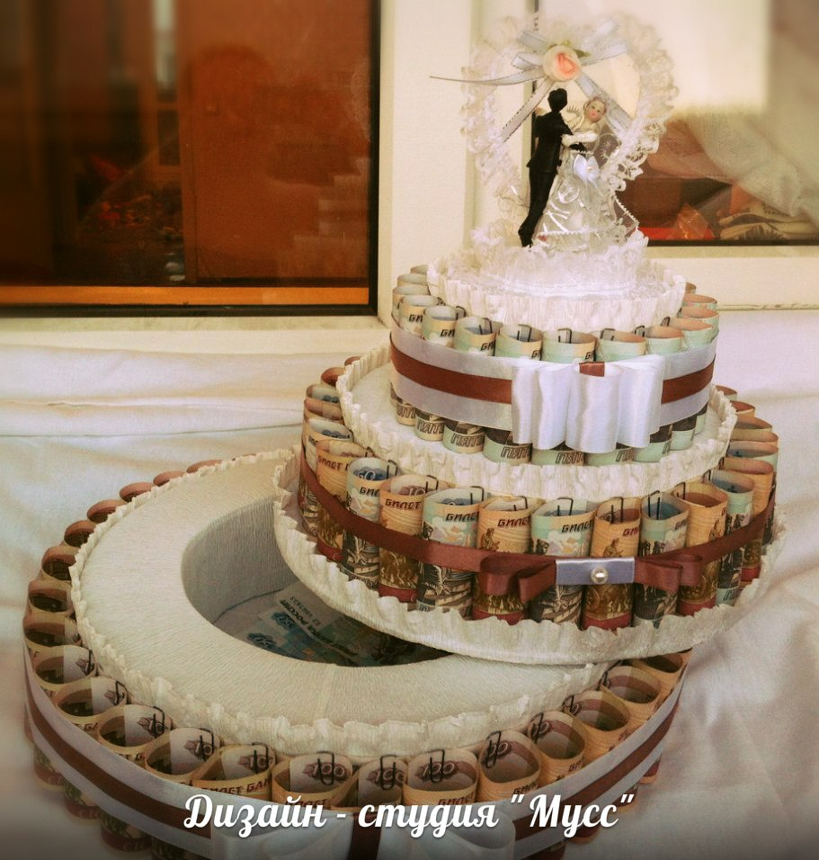 How To Make A Cake Out Of Banknotes In Addition To Money You Also