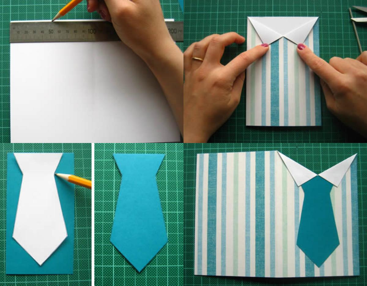 Как сделать рубашку для открытки