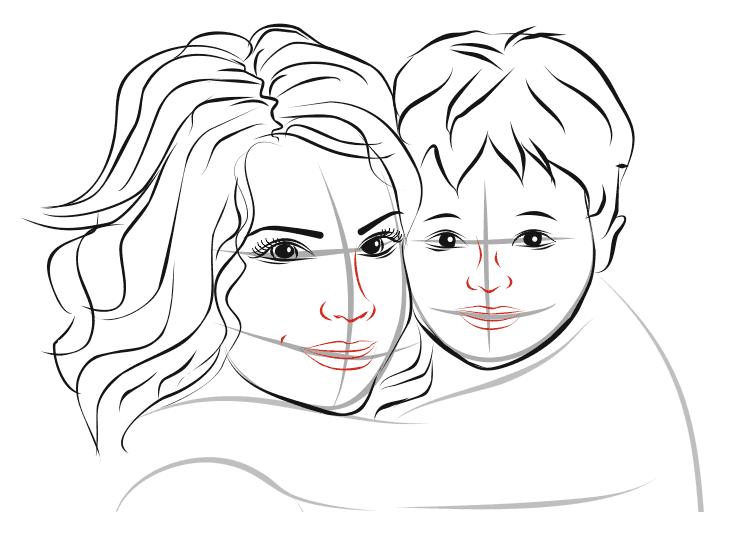 овладели рисунки как нарисовать маму еще