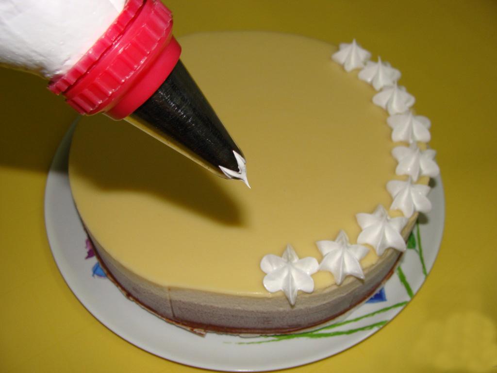 смотря украшение тортов кремом пошаговые фото инструкции отдельной посуде