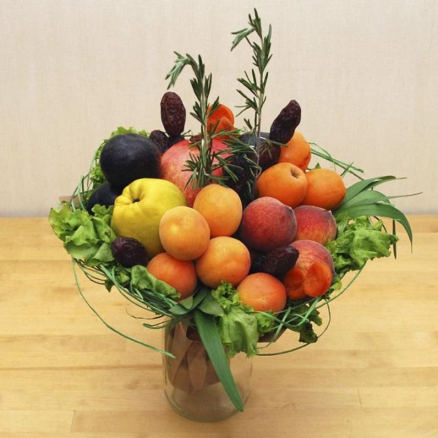 Как сделать осенний букет из фруктов