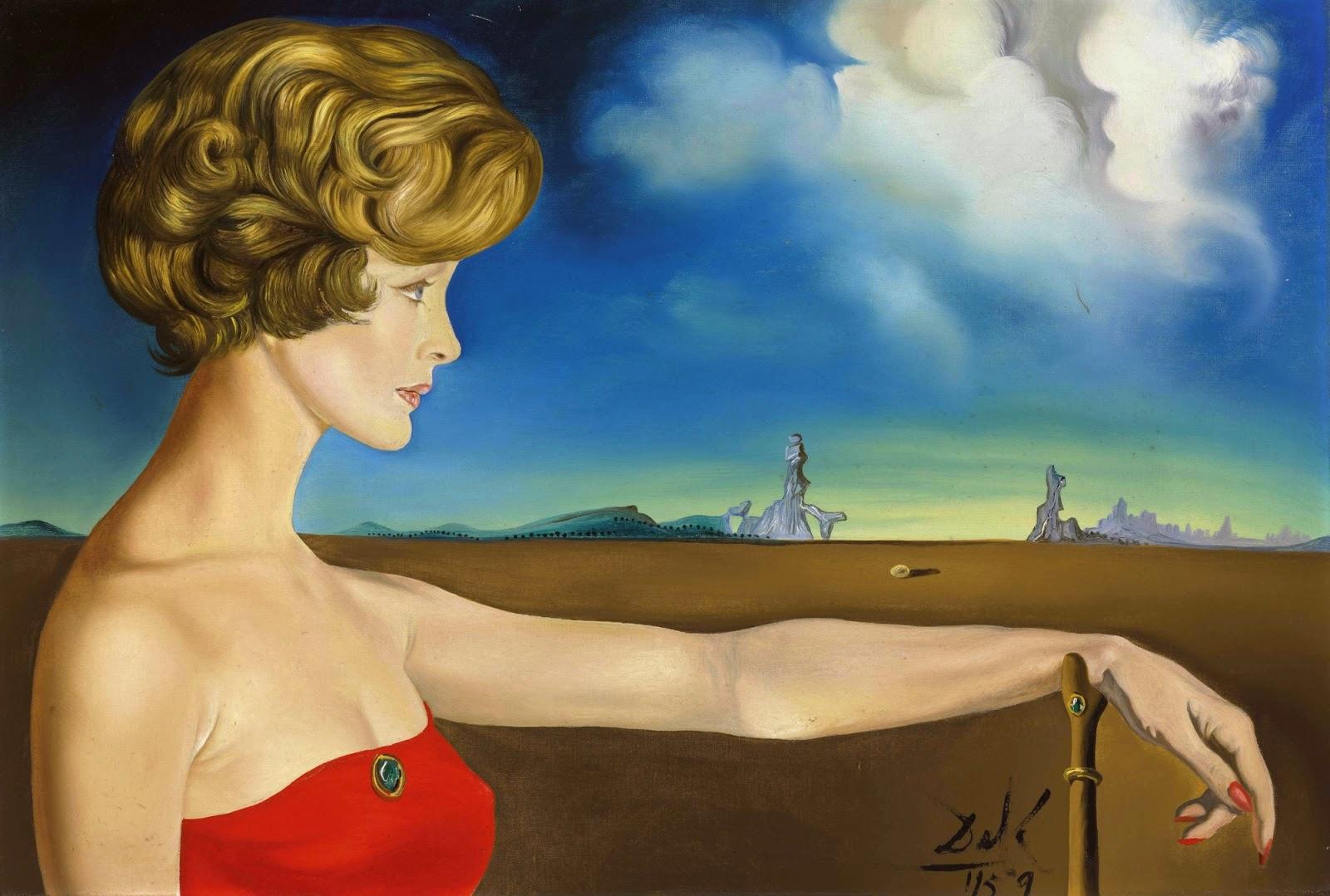 Dipinti nello stile del surrealismo di salvador dali