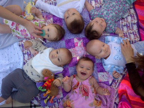 baby playgroup in the park