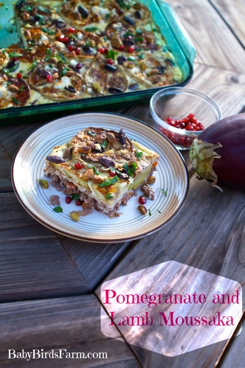 lamb, eggplant and pomegranate moussaka