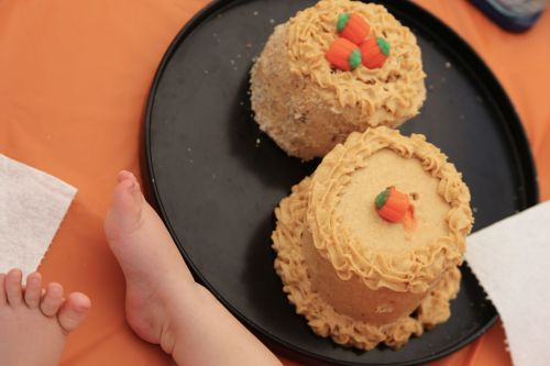 Healthy Pumpkin Smash Cake