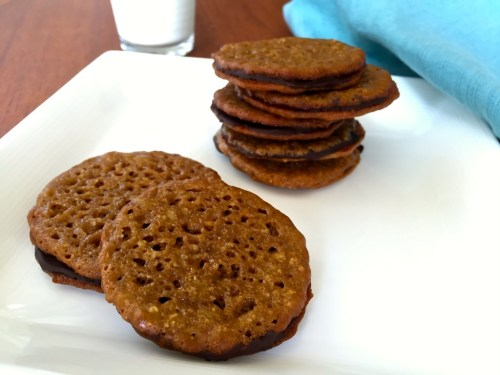 Dark Chocolate Almond Lacy Cookie (Trader Joe's Copy Cat Recipe)