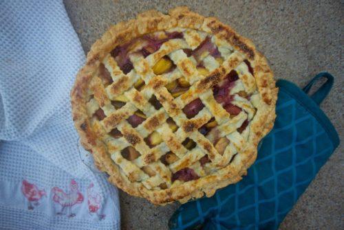 Nectarine Blackberry Pie