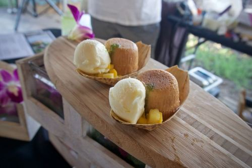 Corn Sorbet and Tres Leches from Loews Coronado