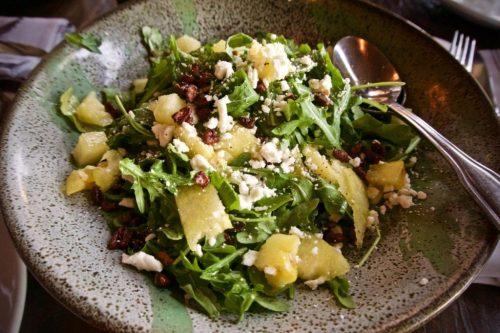 Yellow Watermelon Salad at Farmer's Bottega Restaurant in Mission Hills, San Diego