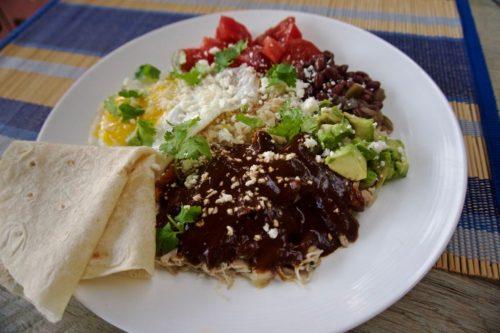 easy chicken and mole plate (recipe)