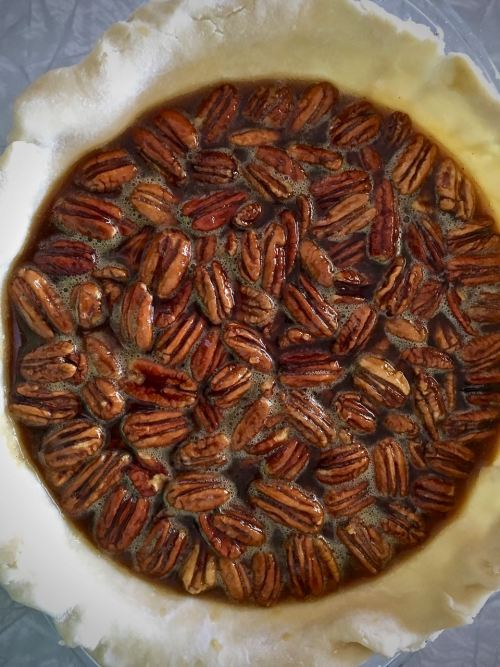 Honey Bourbon Pecan Pie Vertical