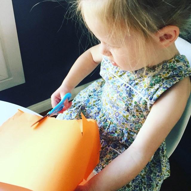 Scissors help prewriting skills