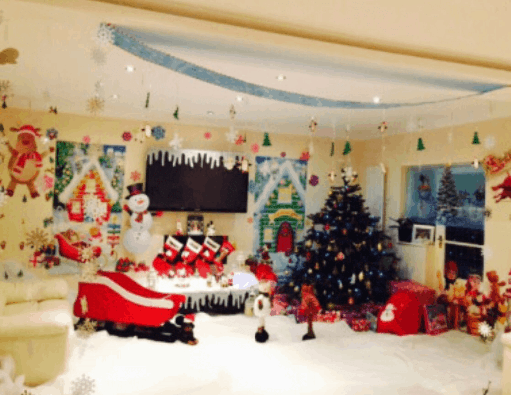 Baby Santa's Winter Wonderland! … DIY Home Transformation for our Baby's First Christmas!