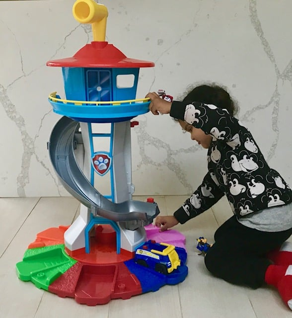 Spinmaster Paw Patrol Life Size Lookout Tower Review | Baby