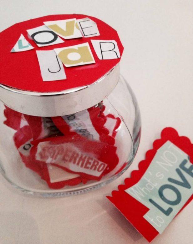 love jar, Valentines on a budget