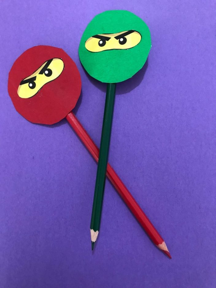 ninjago craft, ninjago pencil topper, Ninjago Party Ideas, lego ninjago party ideas