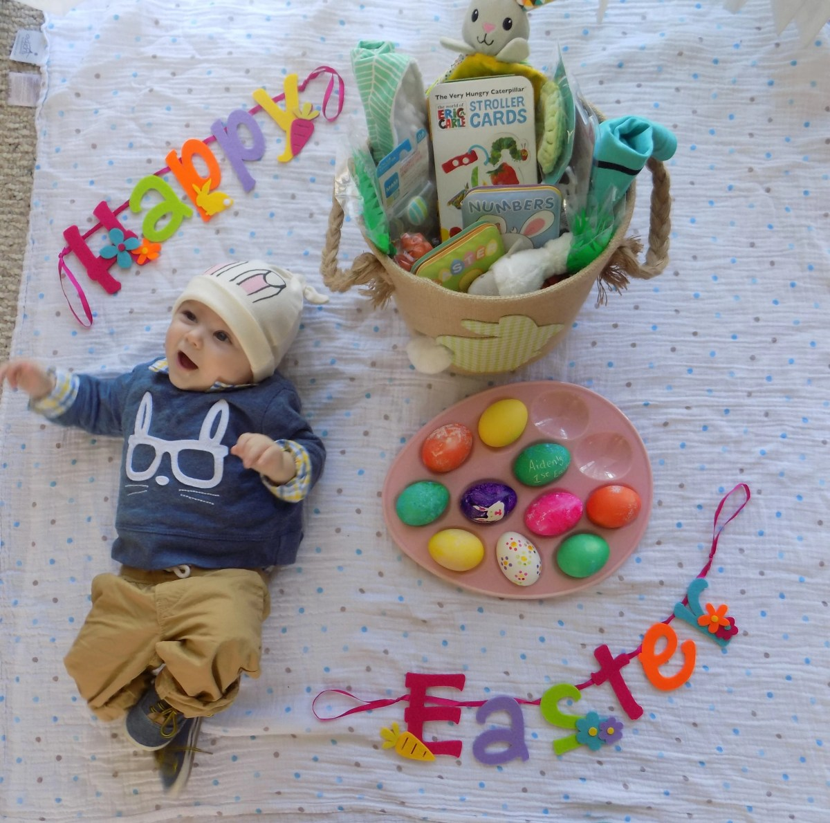 Filling a First Easter Basket for Baby 0-3 Months