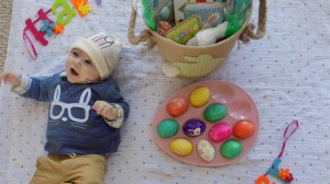 Aiden's First Easter Basket