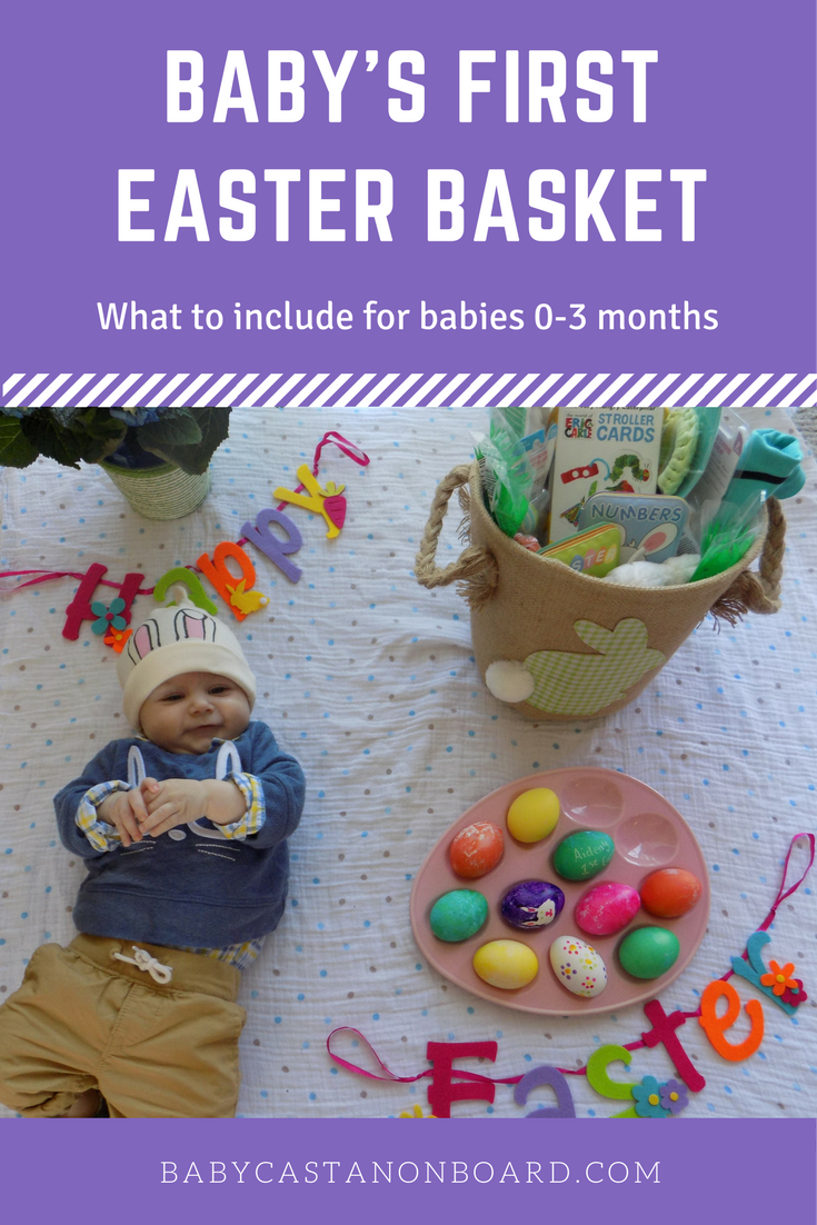 For Aiden's first Easter basket I wanted to get things that would be useful. Here are some ideas to fill your 0-3 months old baby's Easter basket.