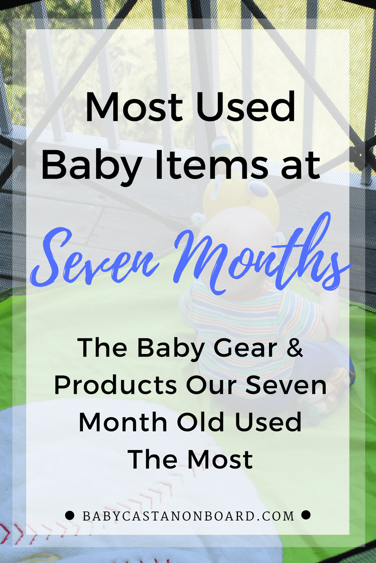 Seven months was a big one for Aiden, we used a lot of baby gear and products. A summary of our most used baby items in month seven!