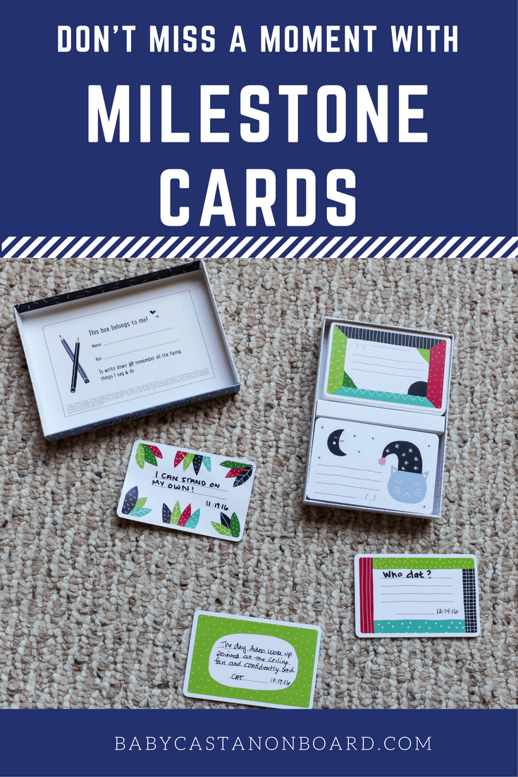I am such a memory freak. I want to celebrate and remember all the moments with Aiden that make us smile which is why I love Milestone Cards.