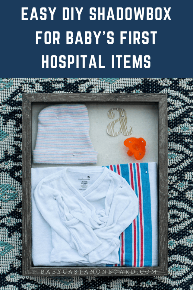 I put together a quick DIY shadow box of Aiden's first baby things from the hospital. This is a super easy DIY decoration for any room in the house!