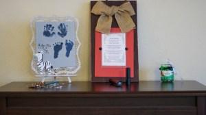 Sweet DIY Birth Announcement Chalkboard