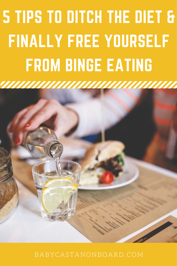 Wouldn't it be nice to stop binge eating and eat only when your body is physically hungry? Tips to quit the diet and stop binge eating.