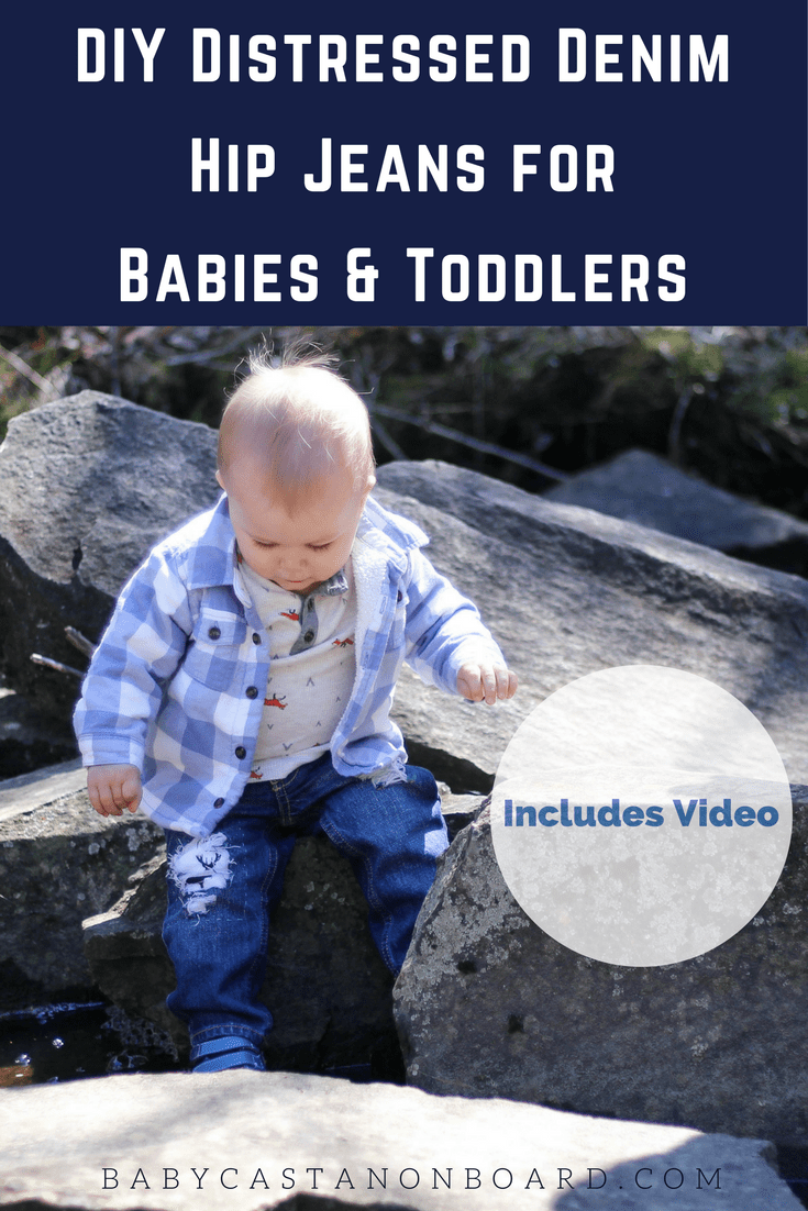 I love the look of distressed denim on babies. Here are step by step instructions (including video) for making distressed denim for babies and toddlers.