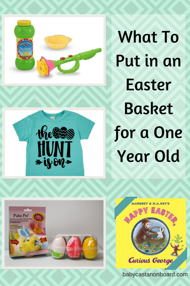 1 Year Old Easter Basket Ideas featured by top US mommy blog Baby Castan On Board